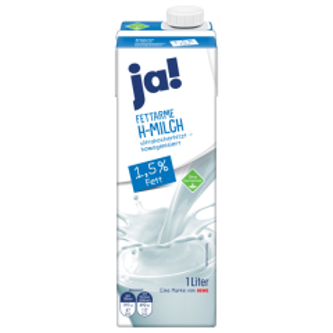 JA! Fettarme H-Milch, 1,5%, 1l